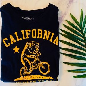 Riot Society Goin Back to Cali Bear Graphic Tee